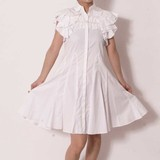 Fabric Fine Quality Material Pearl Attached Blouse One-piece Dress