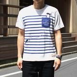 ☆17SSセール☆【2017春夏新作】フェイクポケットボーダーTシャツ