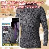 冷感・消臭PS長袖クルーネックシャツ 迷彩<暑さ対策・熱中症・UVカット・UV対策・スポーツ>
