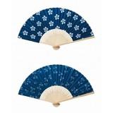 白竹藍染涼風扇子1本/夏 祭り レジャー アウトドア 男女兼用 ノベルティ