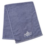 Towel Dress Leaf White Blue Hand Face Toilet Fabric
