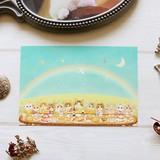 ポストカード ねこ「たのしい晩餐」