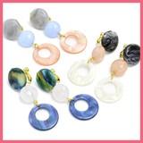 Style Circle Motif Mix Beads Earring