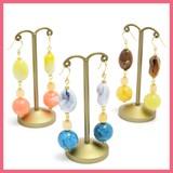 Marble Motif Pierced Earring