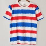 マルチボーダーラウンドネック半袖Tシャツ