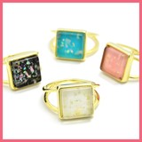 Aurora Square Motif Ring Size 10
