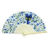 Blue Cat Folding Fan 2 type Rose Free