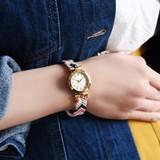 ◆ミサンガブレスウォッチ/腕時計/カラフル/刺繍/ゴールド/アクセサリー/カラフル/フェス◆426223