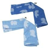 Polar Bear Fit Towel Pillow Cover Navy Blue