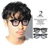 Excellent カジュアル メンズ メガネ サングラス ウェリントンスモークレンズメガネ4 622488