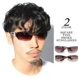 Excellent カジュアル メンズ メガネ サングラス スクエアタイプスモークサングラス 622490