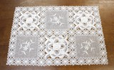 Embroidery White Rose Series Table Runner