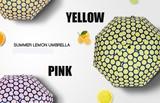 紫外線UVカット★晴雨兼用★レモン模様 遮熱遮光性抜群折り畳傘、日傘ブラックコーティング