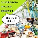 【お得】シトロネラカラーキャンドルセット【バグオフ】【虫よけ】【アウトドア】