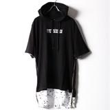 【2017SS】【即納商品】しぶきBOXロゴ裾フェイクサイドジップT−PK