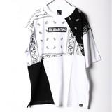 【2017SS】【即納商品】ペイズリー切り替えBIGTシャツ