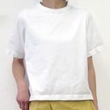 <予約販売>【2017年春夏新作】レディース エーゲ海天竺後ろフレアTシャツ