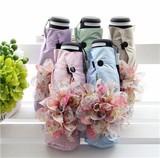 NEW2017★♪晴雨兼用婦人折畳み傘☆UV対策♪花の飾り