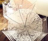 NEW2017★♪晴雨兼用長傘☆♪透明レース 刺繍
