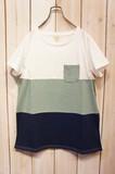 <★2017春夏新作★>【カラバリ豊富】天竺・ギャザー入りデザインTシャツ