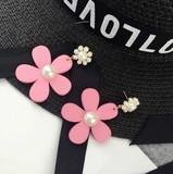 「新着」☆ミ個性的花モチーフ★ピアス♪イヤリング3色