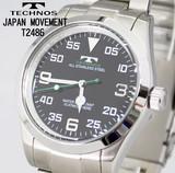 【TECHNOS】テクノス オールステンレス メンズウォッチ T2486SB