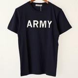 【2017春夏新作】ARMY 綿 100% クルーネック プリント 半袖 Tシャツ