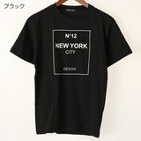 【2017春夏新作】NEW YORK 綿 100% クルーネック プリント 半袖 Tシャツ