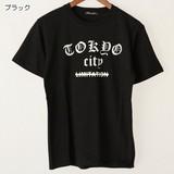 【2017春夏新作】TOKYO CITY 綿 100% クルーネック 半袖 Tシャツ
