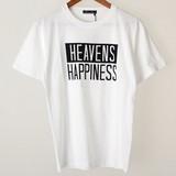 【2017春夏新作】HEAVENS 綿 100% クルーネック 半袖 Tシャツ
