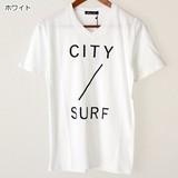 【2017春夏新作】CITY SURF 綿 100% Vネック 半袖 Tシャツ