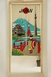 Japanese Noren Curtain Japanese Style Sightseeing Mohair