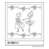 花ふきんH-1041 Ballerina Lesson (バレリーナレッスン)
