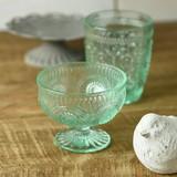 Dessert Cup Green Glass China Western Plates & Utensils Set