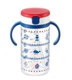 Richell Aqulea Straw Mug Navy Blue