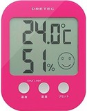 ドリテック デジタル温湿度計「オプシス」ピンクO-230