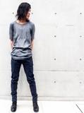Japanese Thirty Pieces Irregular Cut Stretch Denim Pants