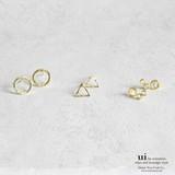 【新入荷】【ピアス】【幾何学】小さめ/ゴールド/シンプル