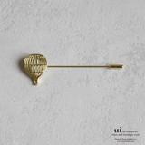 【新入荷】【ピンブローチ】【気球】ゴールド/シンプル