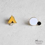 【新入荷】【ピンブローチ】【幾何学】カラフル/ゴールド/シンプル