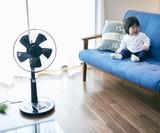 【4色展開】レトロ調リビング扇風機【30cm羽根】