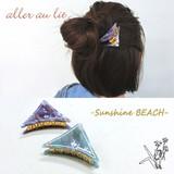 "【aller au lit】-Sunshine BEACH-""アセチ""ロゴ入り三角バンス"