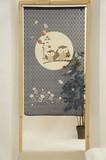 Japanese Noren Curtain Japanese Style Owl