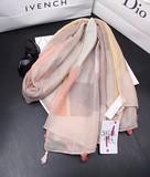 【春めき】スカーフ 2色 UVカット タッセル 肩掛け