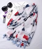 【春めき】スカーフ 綺麗な花 肩掛け