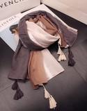 【春めき】スカーフ 肩掛け タッセル