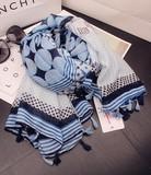 【春めき】UVカット 幾何模様 スカーフ 肩掛け
