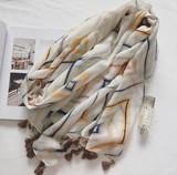 【春めき】UVカット 清潔感あり スカーフ 肩掛け