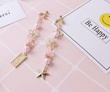 【NEW】花びら付き★ピンクかわいいピアス//イヤリング