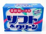 【柔軟剤入りで優しい肌ざわり】洗濯用洗剤ソフト&クリーン500g